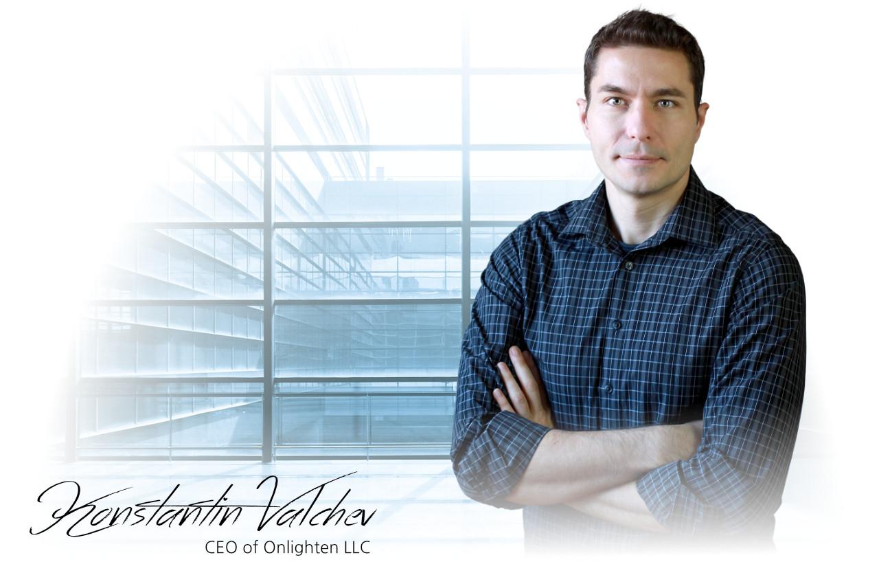 Konstantin Valchev CEO of Onlighten